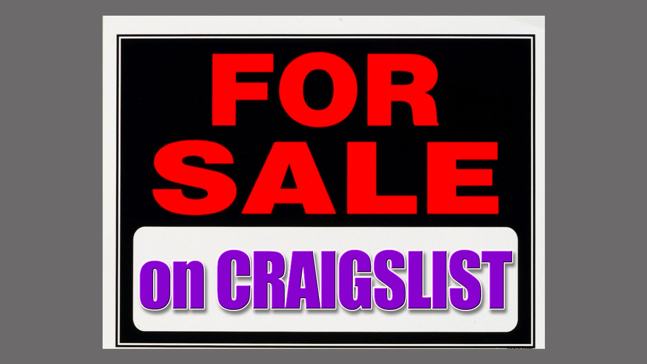 Uhh… craigslist sellers
